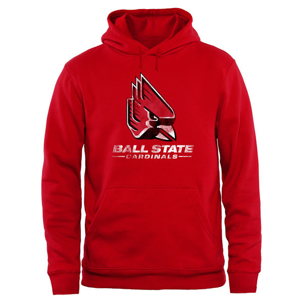 Men NCAA Ball State Cardinals Big Tall Classic Primary Pullover Hoodie Red