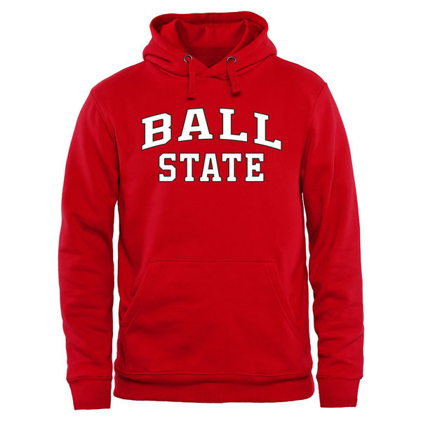 Men NCAA Ball State Cardinals Everyday Pullover Hoodie Red