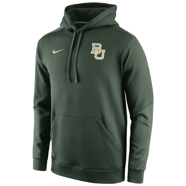 Men NCAA Baylor Bears Nike Sideline KO Chain Fleece ThermaFIT Hoodie