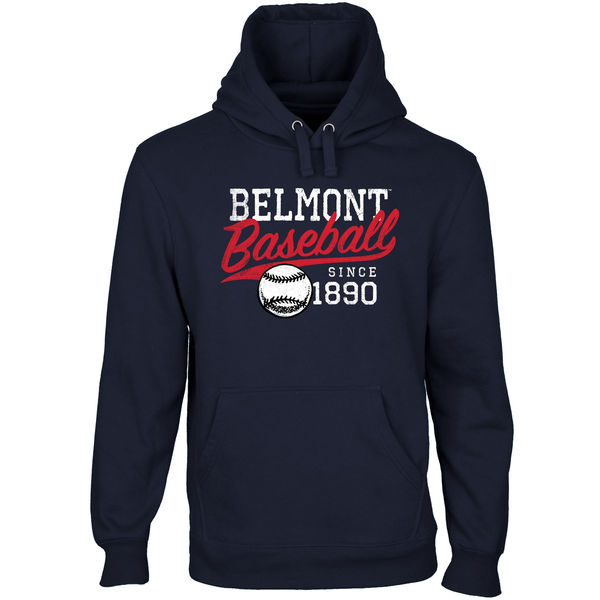 Men NCAA Belmont Bruins Ballpark Pullover Hoodie Navy Blue