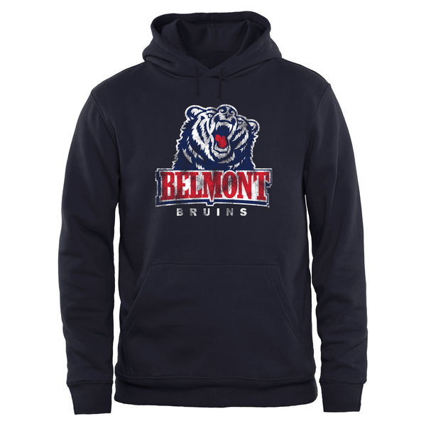 Men NCAA Belmont Bruins Big Tall Classic Primary Pullover Hoodie Navy