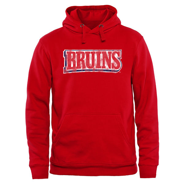 Men NCAA Belmont Bruins Classic Wordmark Pullover Hoodie Red
