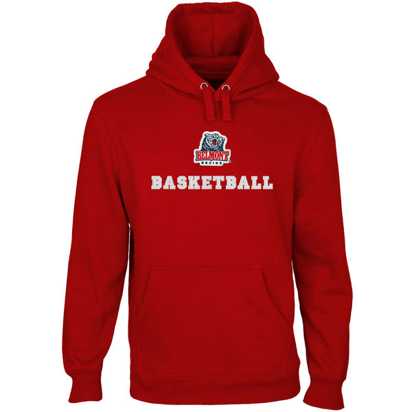 Men NCAA Belmont Bruins Custom Sport Logo Applique Pullover Hoodie Red