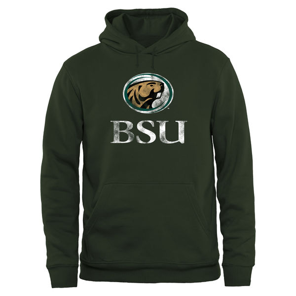 Men NCAA Bemidji State Beavers Big Tall Classic Primary Pullover Hoodie Green