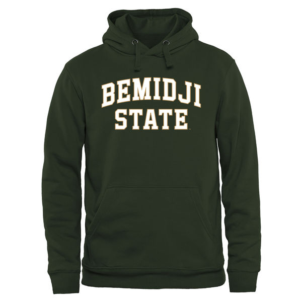 Men NCAA Bemidji State Beavers Everyday Pullover Hoodie Green