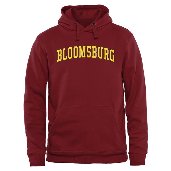 Men NCAA Bloomsburg Huskies Everyday Pullover Hoodie Maroon