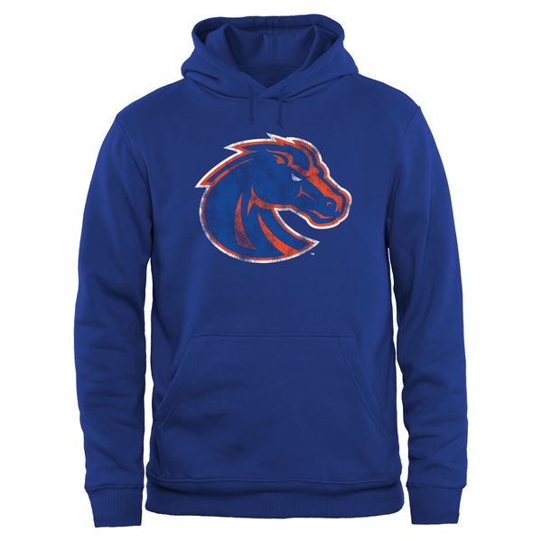 Men NCAA Boise State Broncos Big Tall Classic Primary Pullover Hoodie Royal