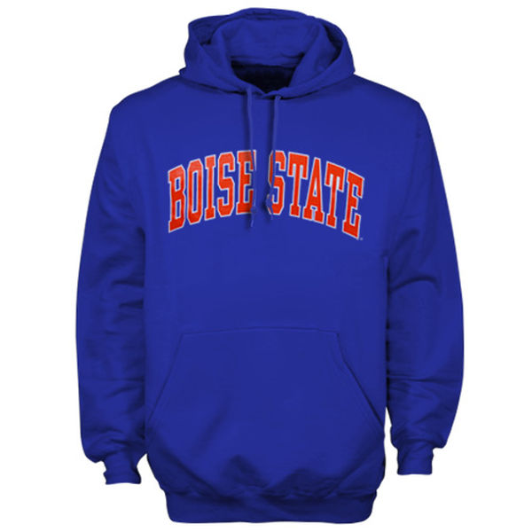 Men NCAA Boise State Broncos Bold Arch Hoodie Royal Blue