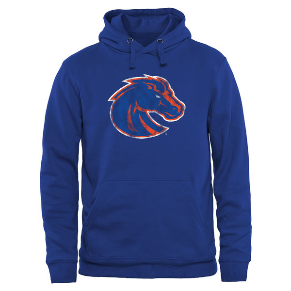 Men NCAA Boise State Broncos Classic Primary Pullover Hoodie Royal Blue
