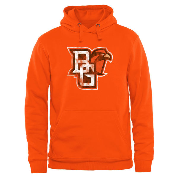 Men NCAA Bowling Green St. Falcons Classic Primary Pullover Hoodie Ash