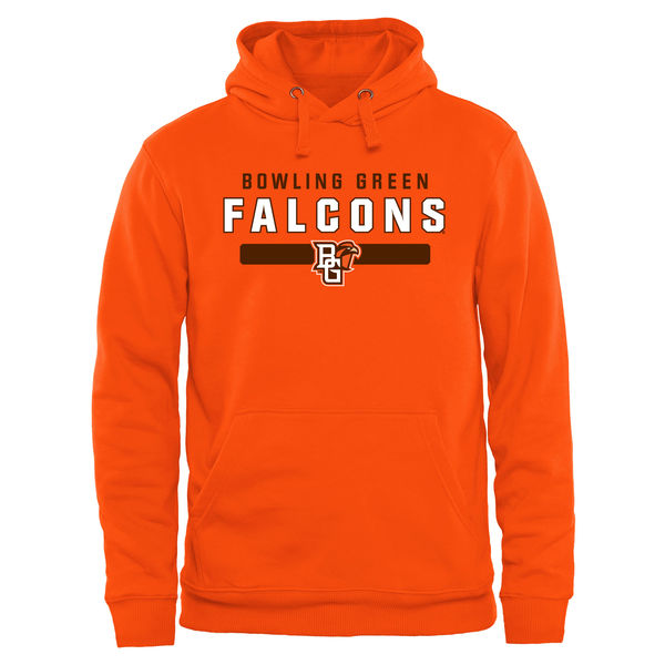 Men NCAA Bowling Green St. Falcons Team Strong Pullover Hoodie Orange