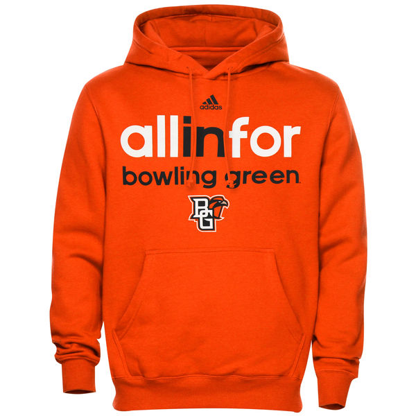 Men NCAA Bowling Green St. Falcons adidas Ultimate All In For Hoodie Orange