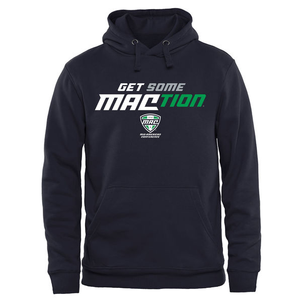 Men NCAA MAC Gear Get Some MACTION Pullover Hoodie Navy Blue