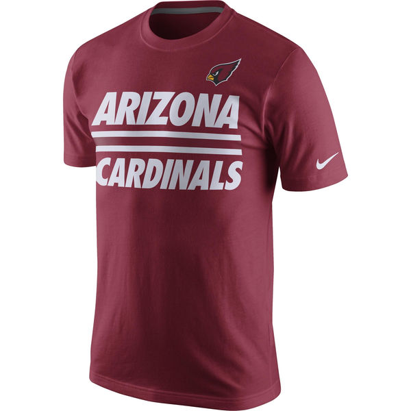 Men NFL Arizona Cardinals Nike Team Stripe TShirt Cardinal