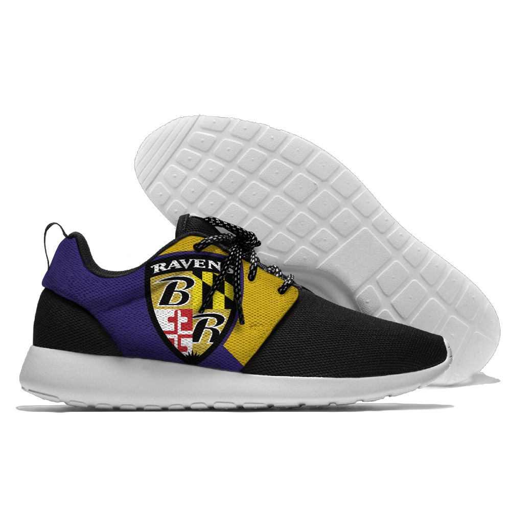 Men NFL Baltimore Ravens Roshe style Lightweight Running shoes 3