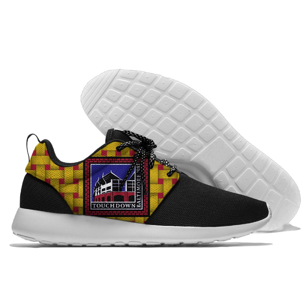 Men NFL Baltimore Ravens Roshe style Lightweight Running shoes 4