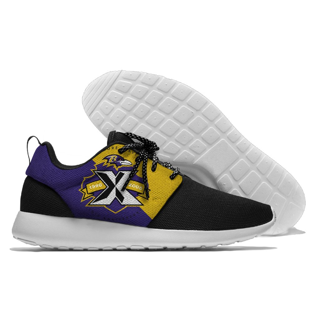 Men NFL Baltimore Ravens Roshe style Lightweight Running shoes2