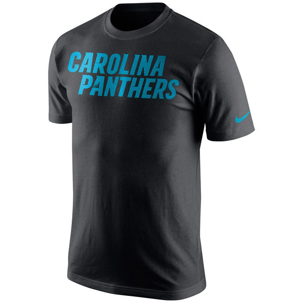 Men NFL Carolina Panthers Nike Black Wordmark TShirt