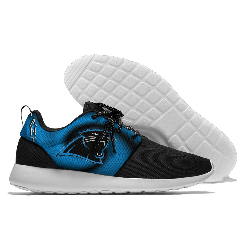 Men NFL Carolina Panthers Roshe style Lightweight Running shoes 2