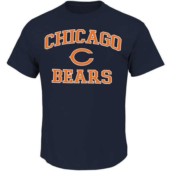 Men NFL Chicago Bears Majestic Big and Tall Heart Soul III TShirt Navy Blue