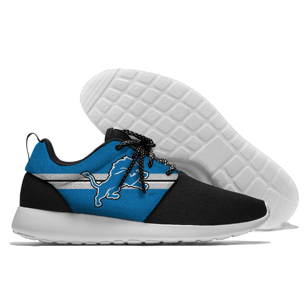 Men NFL Detroit Lions Roshe style Lightweight Running shoes 1