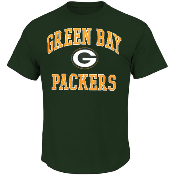 Men NFL Green Bay Packers Majestic Big and Tall Heart Soul III TShirt Green