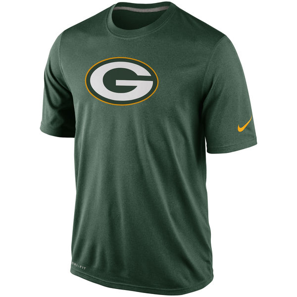 Men NFL Green Bay Packers Nike Legend Logo Essential 2 Performance TShirt Green