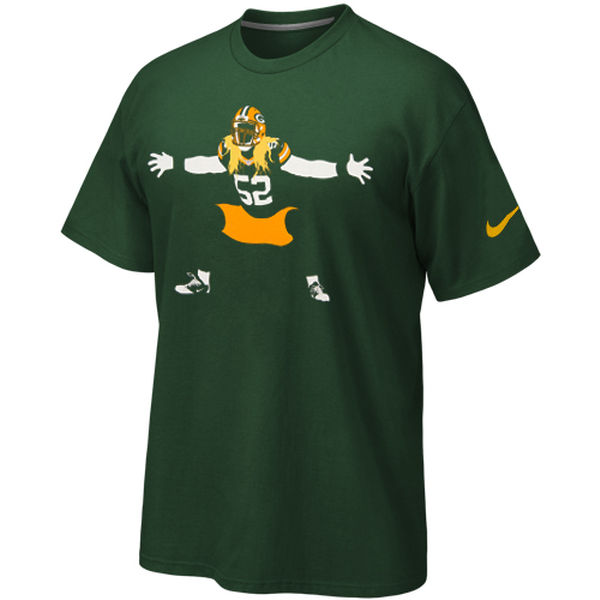 Men NFL Green Bay Packers Nike Silhouette TShirt Green