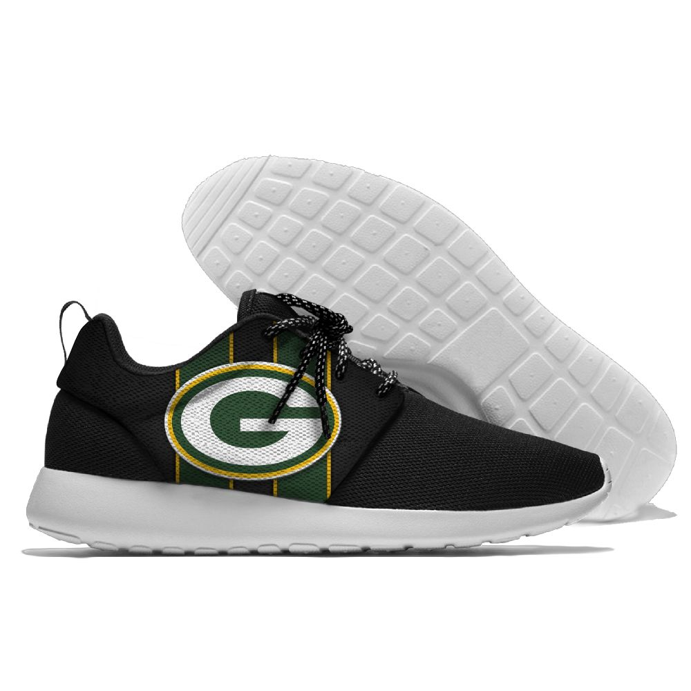 Men NFL Green Bay Packers Roshe style Lightweight Running shoes 1