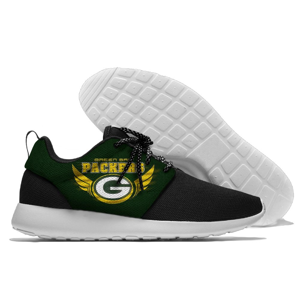 Men NFL Green Bay Packers Roshe style Lightweight Running shoes 2