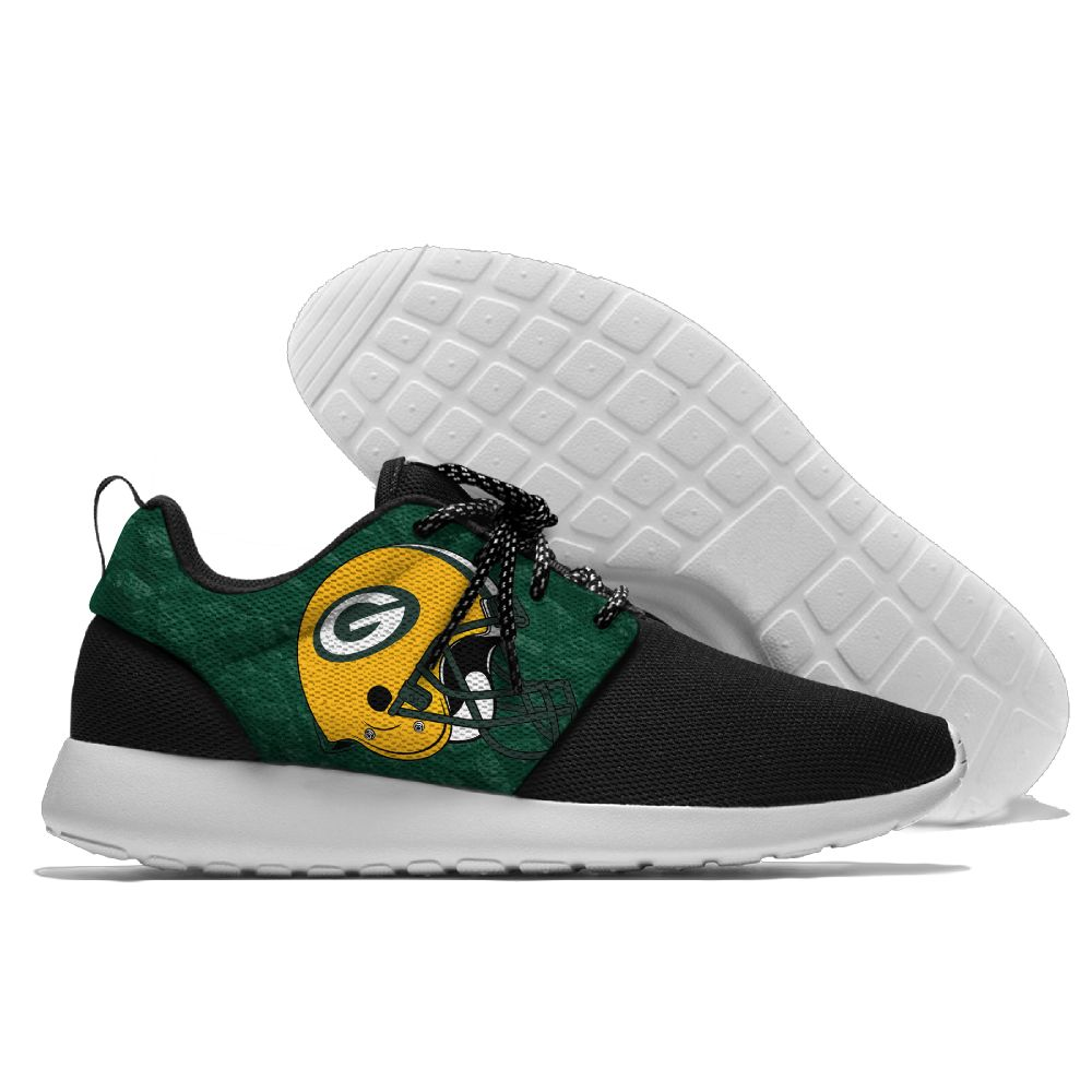 Men NFL Green Bay Packers Roshe style Lightweight Running shoes 3