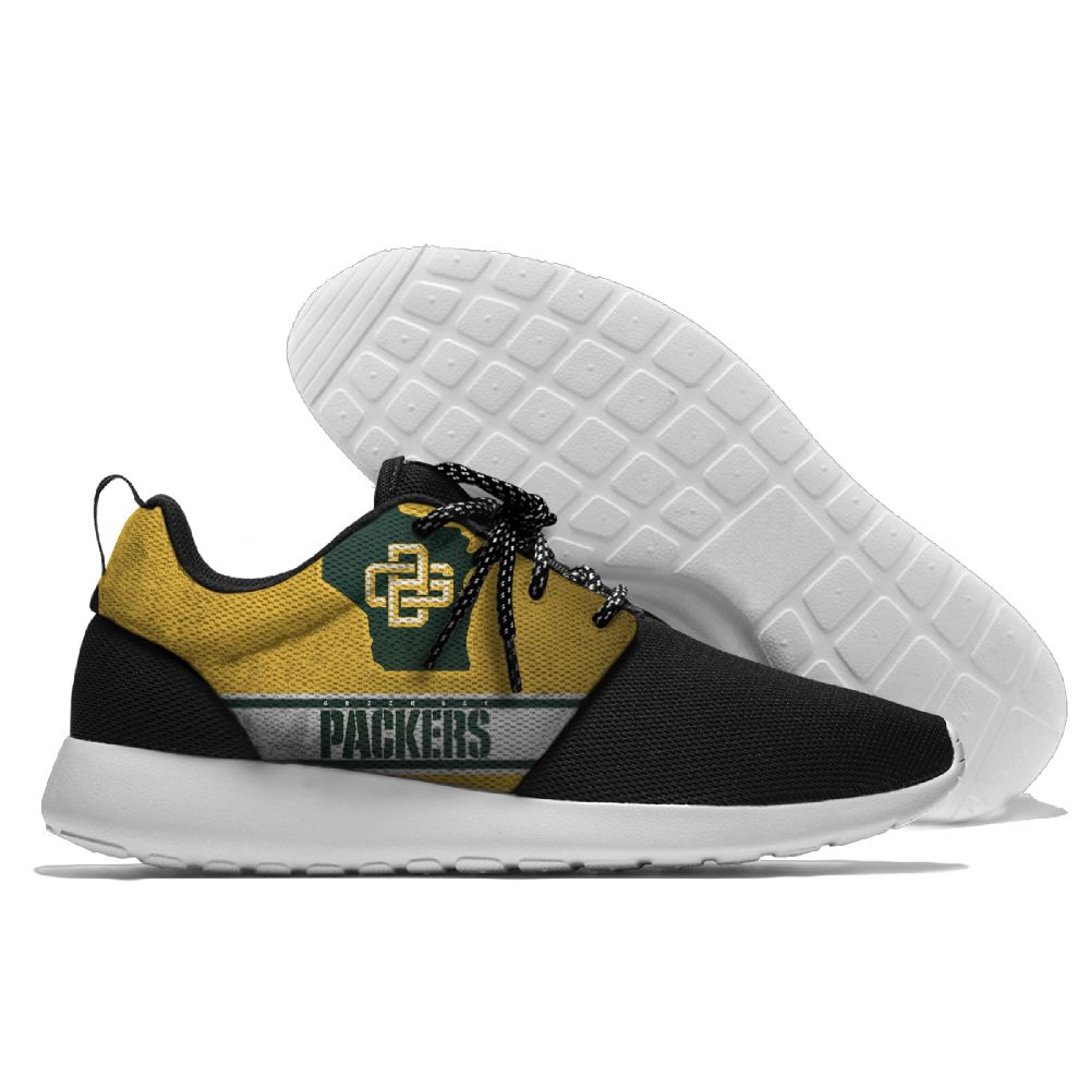 Men NFL Green Bay Packers Roshe style Lightweight Running shoes 5