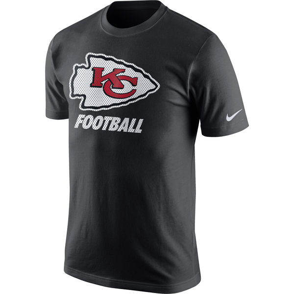 Men NFL Kansas City Chiefs Nike Facility TShirt Anthracite