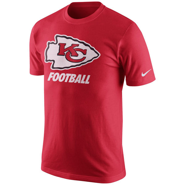 Men NFL Kansas City Chiefs Nike Facility TShirt Red