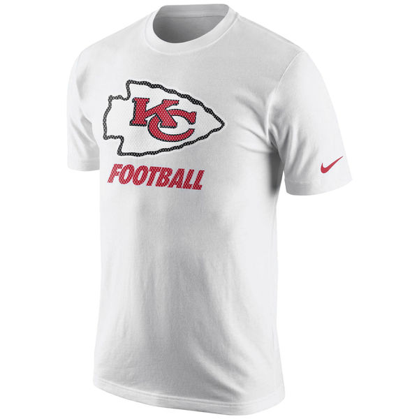 Men NFL Kansas City Chiefs Nike Facility TShirt White