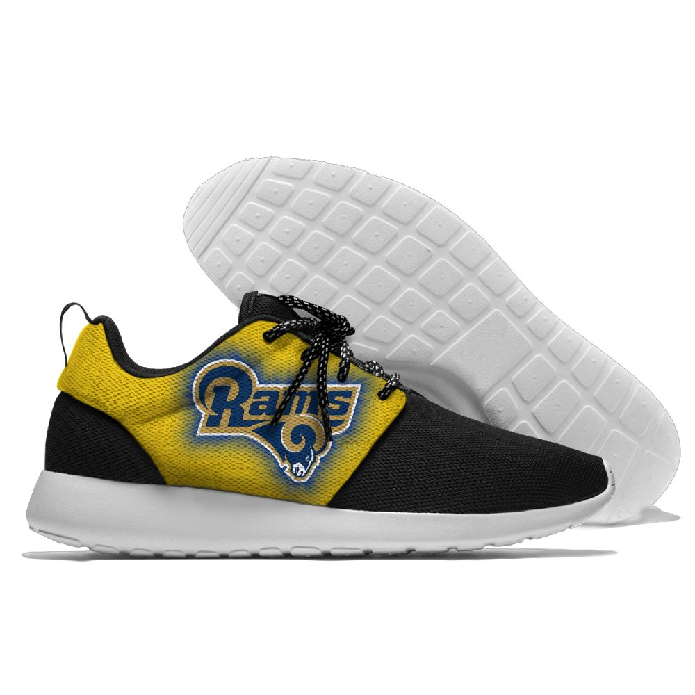 Men NFL Los Angeles Rams Roshe style Lightweight Running shoes 3