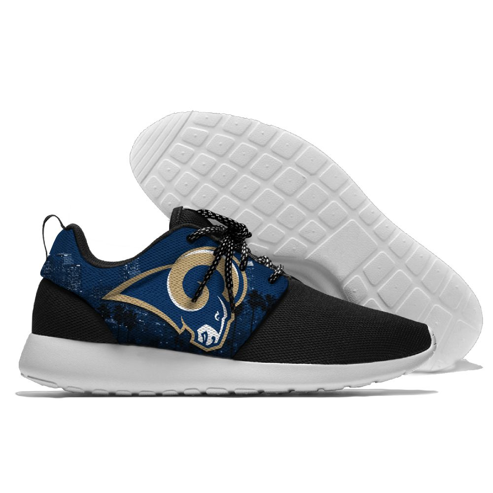 Men NFL Los Angeles Rams Roshe style Lightweight Running shoes2