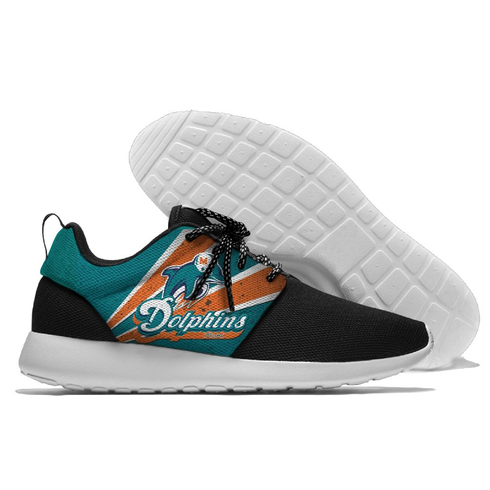 Men NFL Miami Dolphins Roshe style Lightweight Running shoes 3