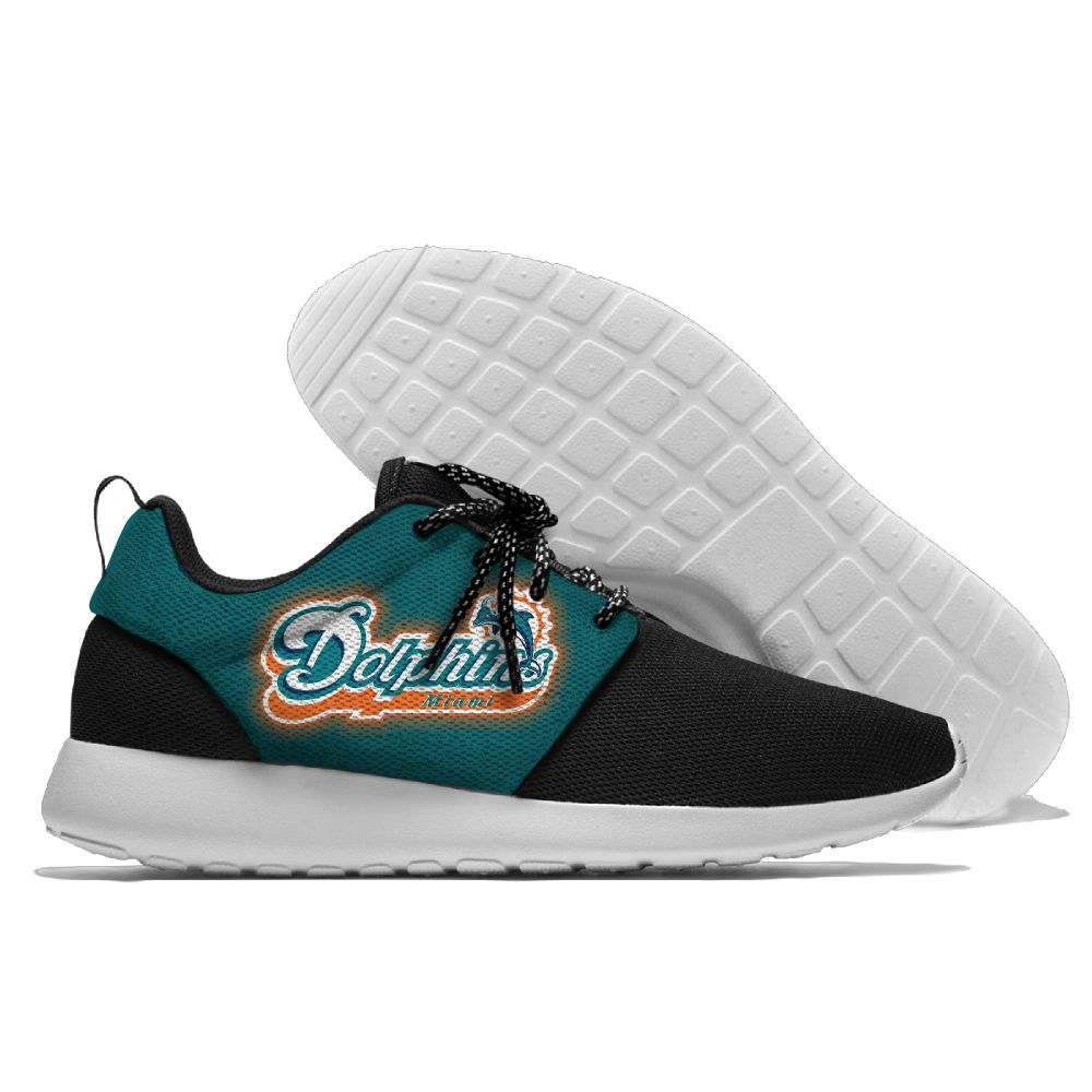 Men NFL Miami Dolphins Roshe style Lightweight Running shoes 6