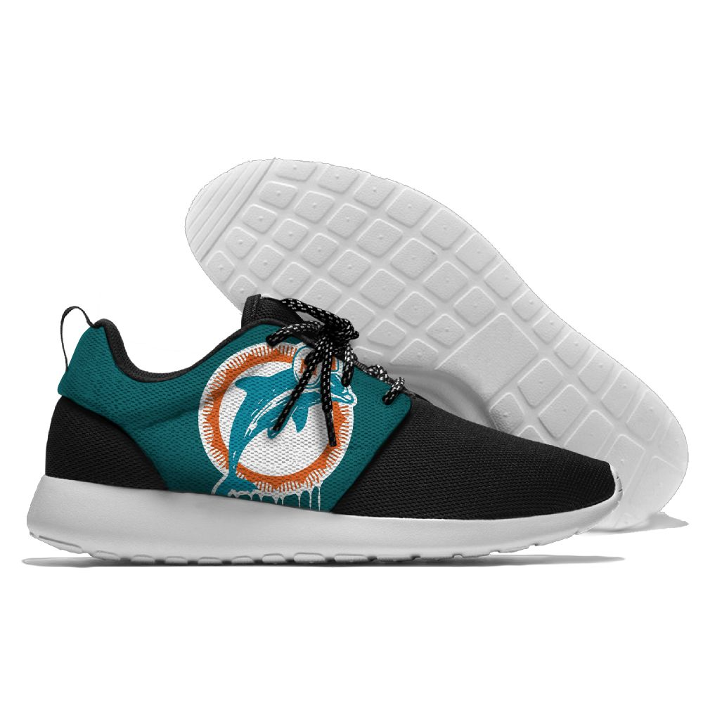 Men NFL Miami Dolphins Roshe style Lightweight Running shoes1