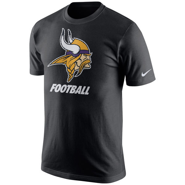 Men NFL Minnesota Vikings Nike Facility TShirt Black