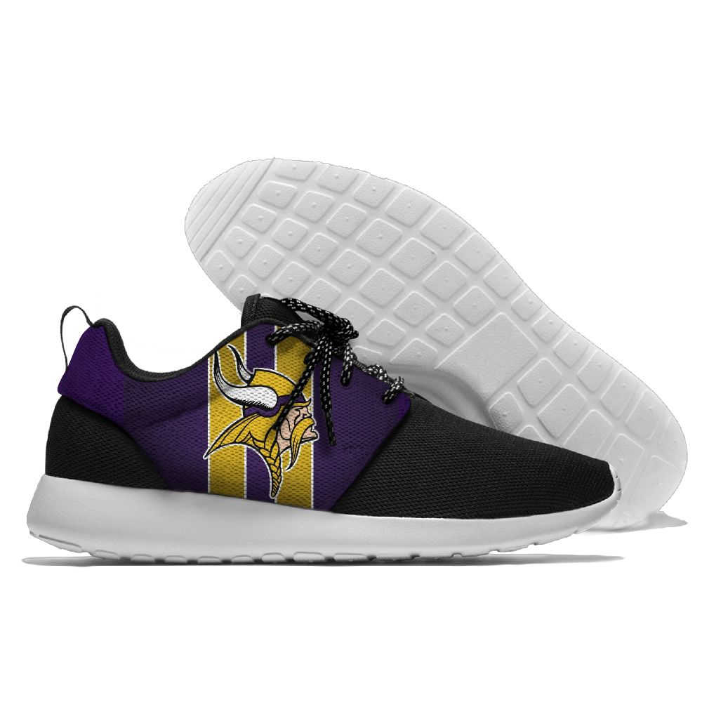 Men NFL Minnesota Vikings Roshe style Lightweight Running shoes 1
