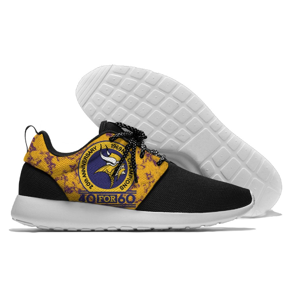 Men NFL Minnesota Vikings Roshe style Lightweight Running shoes 2