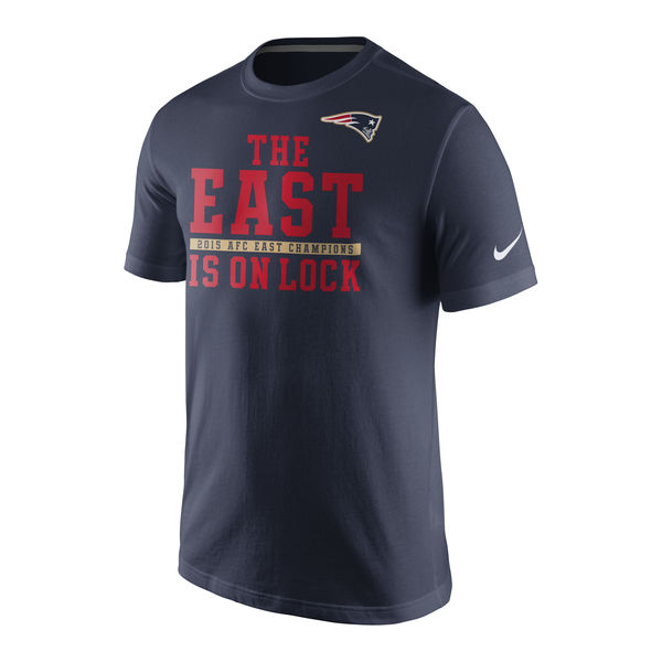 Men NFL New England Patriots Nike 2015 AFC East Division Champions TShirt Navy