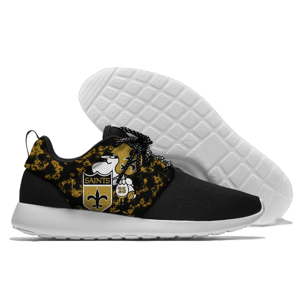 Men NFL New Orleans Saints Roshe style Lightweight Running shoes 2