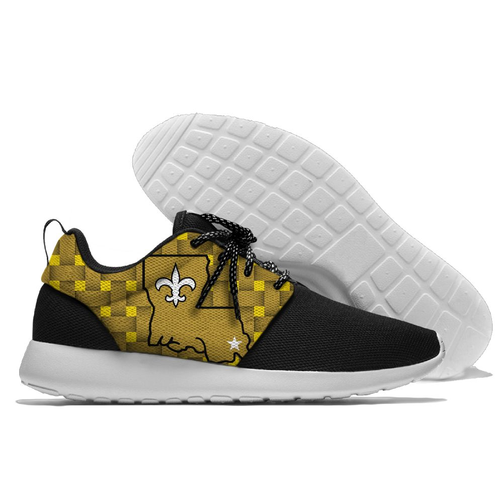 Men NFL New Orleans Saints Roshe style Lightweight Running shoes 3