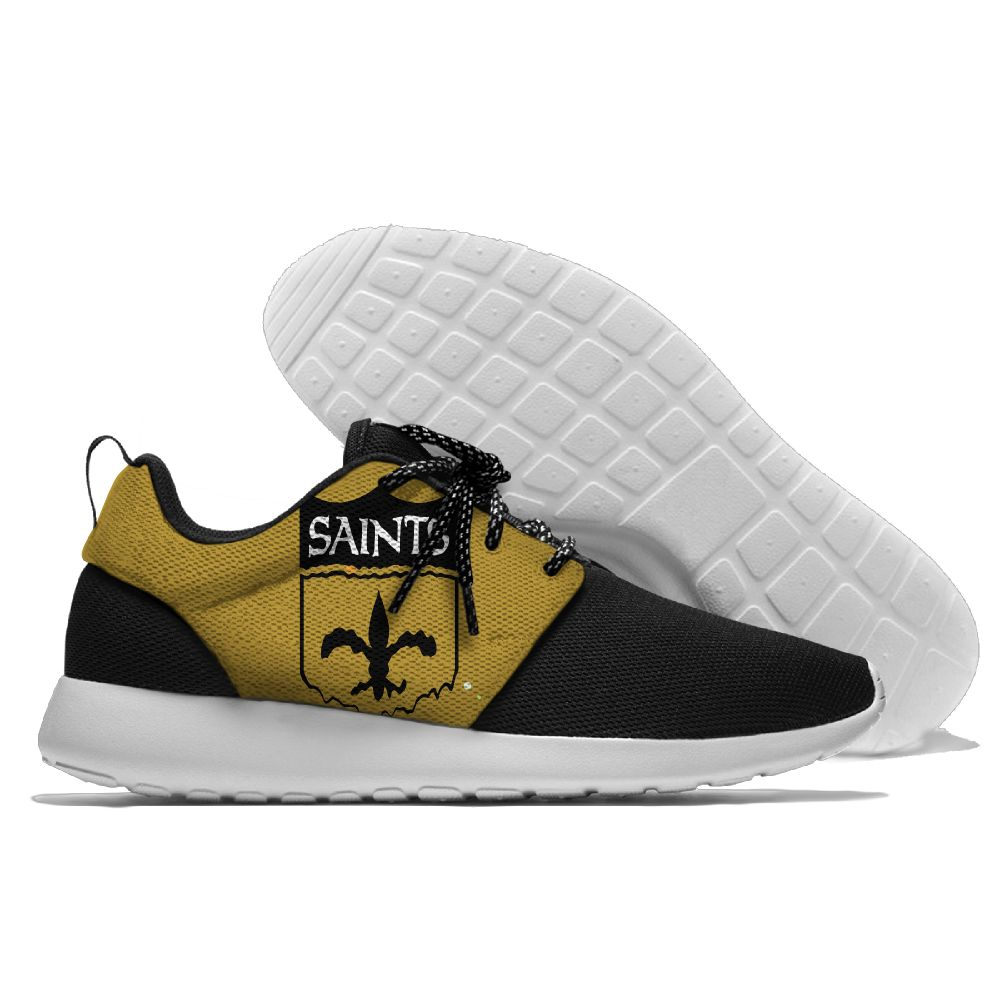 Men NFL New Orleans Saints Roshe style Lightweight Running shoes 4