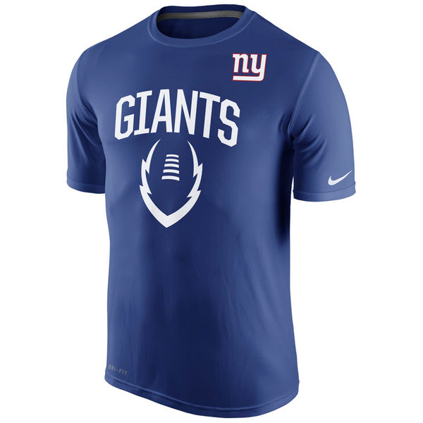 Men NFL New York Giants Nike Legend Icon Performance TShirt Royal Blue