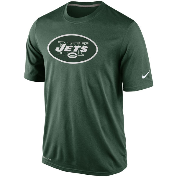 Men NFL New York Jets Nike Legend Logo Essential 2 Performance TShirt Green