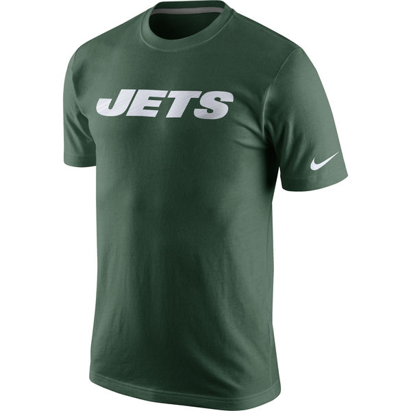 Men NFL Nike New York Jets Fast Wordmark TShirt Green